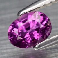 0.65ct 5.5x4mm Oval Natural Unheated Untreated Purple Sapphire, Madagascar