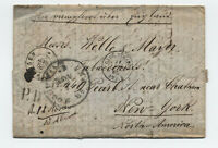 1856 Germany to US stampless folded letter transatlantic [H.420]