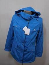 Calvin Klein M Womens Blue Zip Hood Rain Water Trench Coat Jacket Lined Blazer