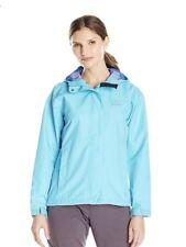 NWT Womens Turquoise Helly Hansen Seven J rain Jacket hood Size Large Free Ship