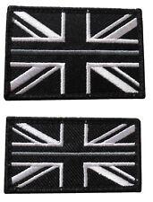 Thin Grey Line HMP Prison Officer Service Union Jack Badge Patch Hook & Loop