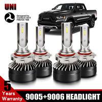 9005+9006 Combo LED Headlight High&Low Beam 6500K Whtie 120W 26400LM High Power