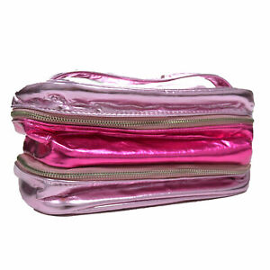Victoria's Secret Train Case Makeup Bag Cosmetic Travel Zip Pink Damaged Nwot