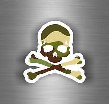 Sticker car motorcycle helmet decal vinyl chopper biker skull camo