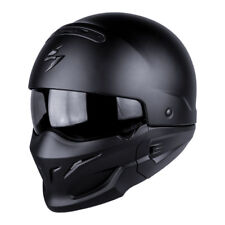 SCORPION EXO-COMBAT SOLID HELMET FULL/OPEN FACE HELMET - MATT BLACK *BRAND NEW*