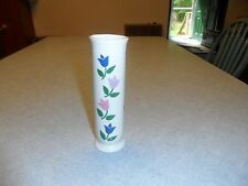 FTDA white 6.5 inch tall and 2 inch round flower vase