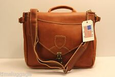 "Leather Pony Express Mailbag 15"" Messenger Bag, NEW, MADE IN THE USA"
