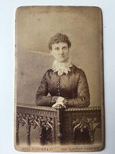 Vintage Victorian Carte De Visite CDV Photo - Rees Pitcher & Co - London - Lady