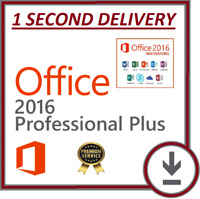 GENUINE MICROSOFT OFFICE 2016 PRO PLUS 32/64-BIT LIFETIME PRODUCT KEY + DOWNLOAD