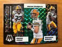 2020 Mosaic Green Bay Packers GREEN PRIZM Flea Flicker Aaron Rodgers