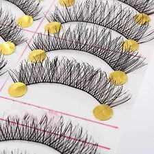 10 Pairs False Eyelashes Handmade Long Thick Natural Fake Eye Lashes Black Hot