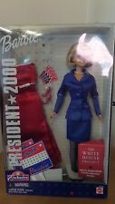 2000 BARBIE FOR PRESIDENT DOLL & CLOTHES TOYS R US WHITE HOUSE PROJECT NRFB