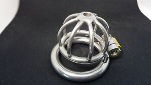 Stainless Steel Male chastity cage supa Small + Optional Urethral Tube next day