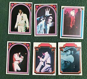 Lot of 6 1978 Donruss Boxcar Elvis Presley Trading Cards bubble gum Rock 'n Roll