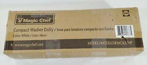 Magic Chef Dolly Compact Laundry Washer Portable Swivel Locking Wheels NOB