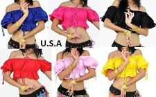 *USA STORE*   Tribal Gypsy Midriff Choli Cotton Belly Dance Bohemian Top