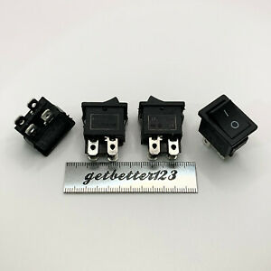 4pcs 15*21mm kcd1-4 Rocker switch 4 pins 2 positions 10A 250VAC T125