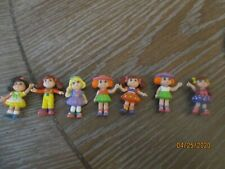 Lot of 7 Small Tiny Different Girl Plastic Dolls Toys Marked Made in China Cute