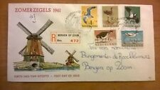 FDC E47 Zomerzegels 1961 met R-strook Bergen op Zoom