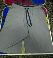 Medium Gray/Blue Lounging Pants Pajamas Croft & Barrow Drawstring Comfy