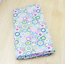 Cotton Fabric Pre-Cut Cotton Quilt cloth Fabric for Sewing Blue D333