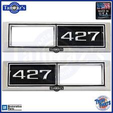 "68-69 Chevy "" 427 "" Front Fender Side Marker Light Bezel Trim PAIR Trim Parts"