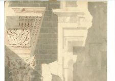 18th century Ink Washing Drawing - Architecture, Antique Building