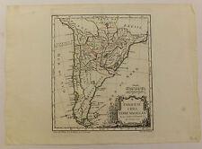 Carte map Paraguay Chili Patagonie Robert de Vaugondy 18ème siècle