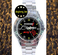 NEW Dodge Challenger SRT Hellcat CUSTOM CHROME MEN'S FINISH WATCH WRISTWATCHES
