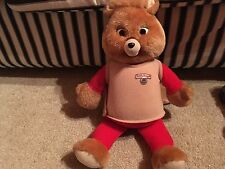 Teddy Ruxpin Vintage Soft Toy 1985 With Tape - Mouth And Eyes Not Moving