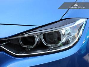 AUTOTECKNIC CARBON FIBER EYELIDS HEADLIGHT COVERS  - BMW F30 328I 330I 335I 340I