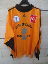 Maillot COUPE de FRANCE porté n°1 ADIDAS goal vintage orange shirt collection XL