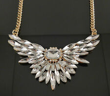 Vintage Retro Multi Crystal Elegant Angel Wings Fashion Jewellery Necklace