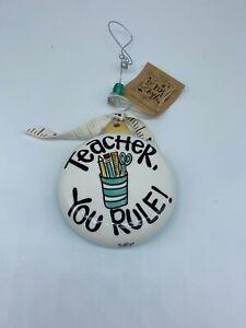 Ornament-Teacher You Rule. New In Box.