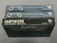 THE CARPENTERS CASSETTE TAPE LOT 3 YESTERDAY ONCE MORE (DOUBLE)& SINGLES 69-75