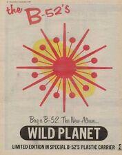 B-52's LP advert 1980