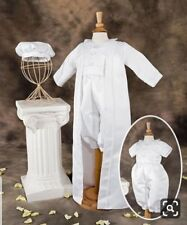 NEW Boys White Christening Baptism Dedication Special Occasion 3 PC Outfit 12 18