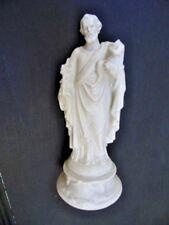 ANCIENNE STATUE RELIGIEUSE: SAINT JOSEPH ET JESUS BISCUIT SIGNE MP / VIEUX PARIS