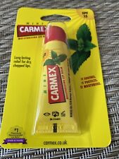 Carmex Mint Moisturizing Lip Balm Tube SPF 15 For Dry & Chapped Lips 10g