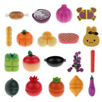 Various Miniature Wooden Magnet Kitchen Food Fruits Vegetables Role Play Kid Toy