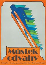 Original Vintage Poster Czech Film Ski Jump High Dive 1976 Hlavaty