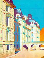 PAINTING ARCHITECTURAL CHATEAU CHEVERNY LOIRE VALLEY FRANCE PRINT POSTER BB8335