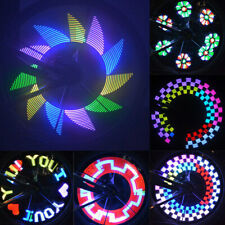 COLORFUL 32-LED BIKE BICYCLE LIGHT 32 PATTERN CYCLING TIRE SPOKES DECOR SMART