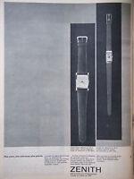 PUBLICITÉ DE PRESSE 1962 MONTRES OR ZENITH MODELE CARAT DEUX ET UN - ADVERTISING