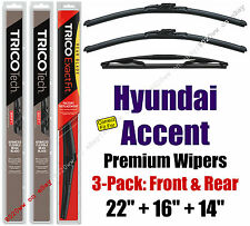 Wipers 3pk Premium Front Special Rear fit 2007-2011 Hyundai Accent 19220/160/14A