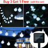 Solar Powered 30 LED String Light Garden Path Party Decor Lamp Outdoor White USA
