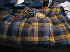 9dae22ee27 MENS FLANNEL PAJAMAS SIZE XLARGE LOUNGE PANTS 100% COTTON NAVY GOLD PLAID  RT 32