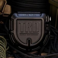 TRD Tactical Rope Dispenser Black with 50 FT x 550 LB. Black Paracord TJParacord