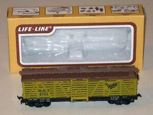 Vintage HO Scale Life-Like MKT 41' Sliding Door CATTLE CAR! The Katy #MKT 4702!
