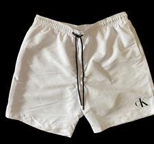 """New listing Calvin Klein 7"""" Swim Trunks - White XL. NWT"""